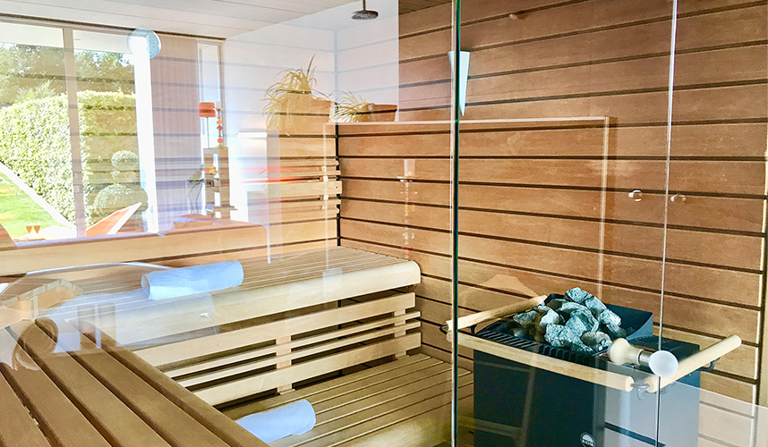 Sauna in de Wellness -en Sauna suite